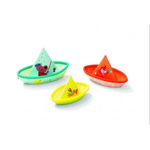 Lilliputiens - 3 plovoucí lodičky - hračka do vody