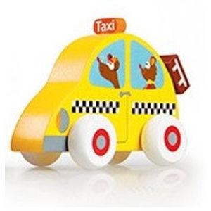 Dřevěné autíčko Scratch - taxi