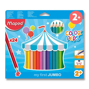 Pastelky Maped Color´Peps Jumbo - 24 barev