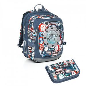 Školní batoh a penál Topgal  - CHI 791 Q Tyrquise + CHI 809 Q