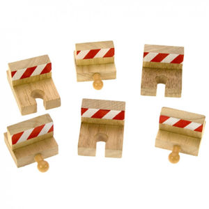 Bigjigs - Nárazníky dřevěné vláčkodráhy 6 ks