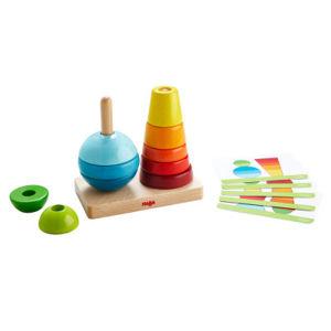 Stohovací hra - tvary a barvy