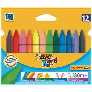 Voskové pastely Bic Kids Plastidecor Triangle - 12 barev