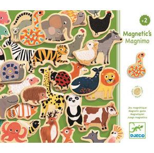 Dřevěné magnety - 36ks zvířátek